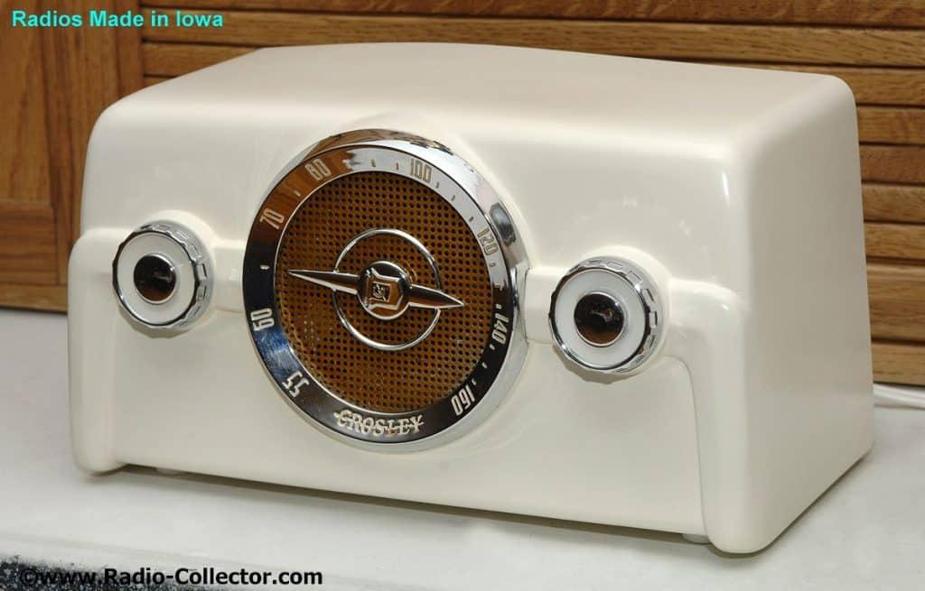Crosley model 10-140, Radio made in Iowa