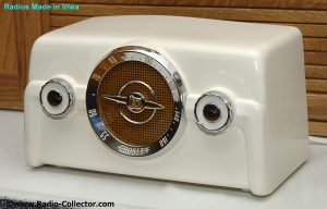 Crosley model 10-140, Radio made in Iowa
