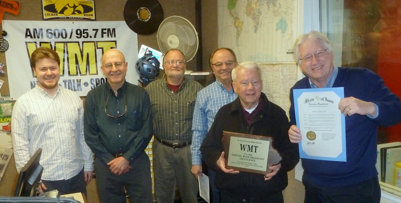 Iowa Antique Radio Club & Historical Society (IARCHS) honoring Iowa Pioneer Radio Station WMT 3/2/2016