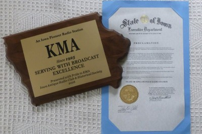 KMA-Pioneer-Radio-Station-Award