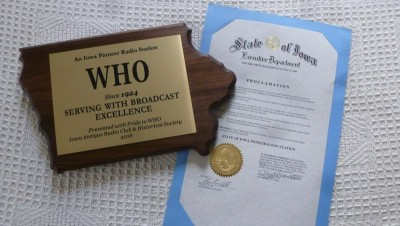 WHO-Pioneer-Radio-Station-Award