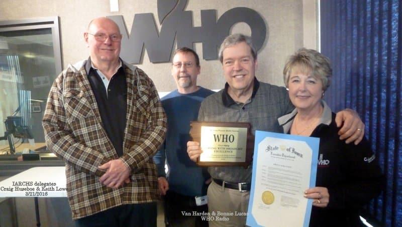 WHO-Pioneer-Radio-Station-Award-Presentation