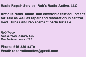 Rob's Radio-Active, LLC Repair Services