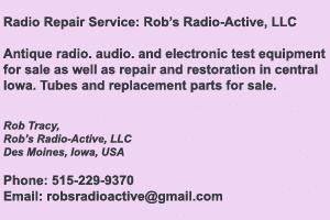 Rob's Radio-Active, LLC Repair Services