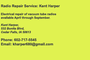 Kent Harper Radio Repair Services