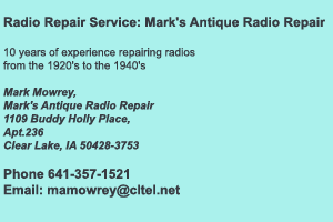 Mark Mowrey Radio Repair Services