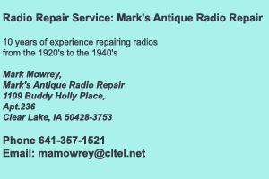 Mark Mowrey Radio Repair Services