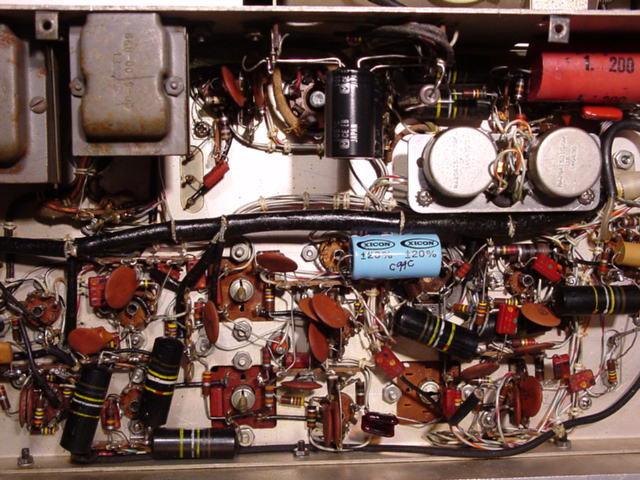 Collins Radio 75A4 Under-chassis View