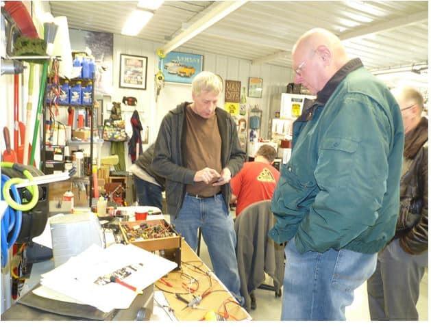 Rob Tracy and Craig Huseboe ponder the Harmon Kardon