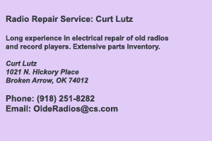 Curt Lutz Radio Repair Services